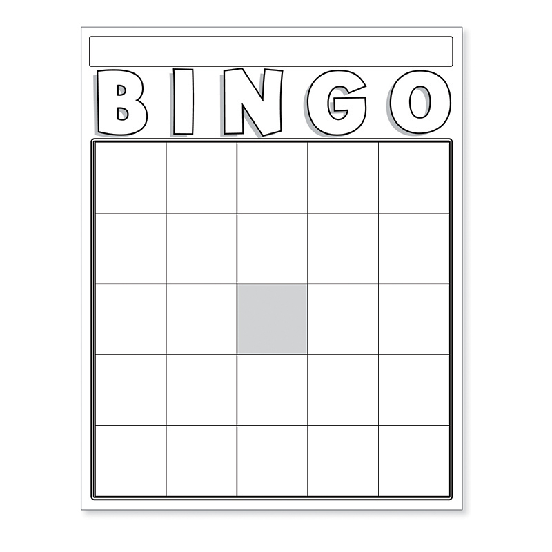 It's just a graphic of Influential Printable Bingo Board