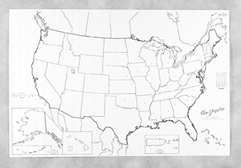 Giant Us Map 48in X 72in Map Of Usa Online Teacher Supply Source - Giant-us-map
