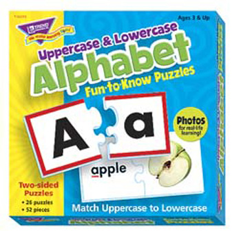 Fun To Know Puzzles Uppercase & Lowercase Alphabet