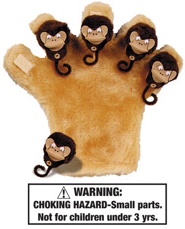 Five Little Monkeys & Monkey Mitt Starter Set