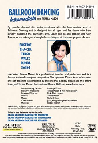 Ballroom Dancing Intermediate with Teresa Mason DVD by Kultur Films