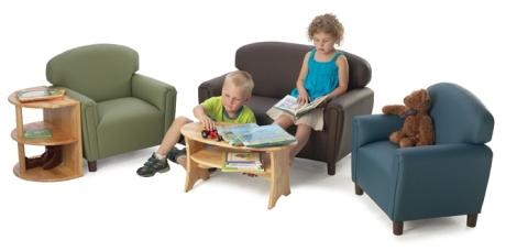 Brand New World EnviroChild Upholstery Toddler Sofa Sage Soft