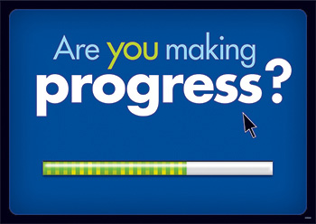 Are You Making Progress Argus Large Poster