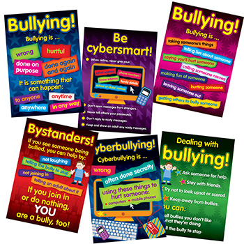 Bullying In A Cyber World Poster Set Gr 2-5