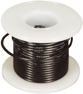 Elenco® Elenco 22 AWG Solid Wire Spool: Black, 25 Foot