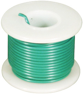 Green 22 Awg Solid 25 Ft. Elenco 22 AWG Solid Wire Spool: Green, 25 Foot
