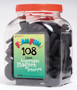 Foam Fun Lowercase Black Magnet Letters