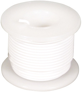 Elenco® Elenco 24 AWG Stranded Wire Spool: White, 25 Foot