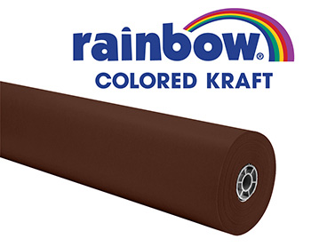 Brown Rainbow Kraft Roll 1000 Ft