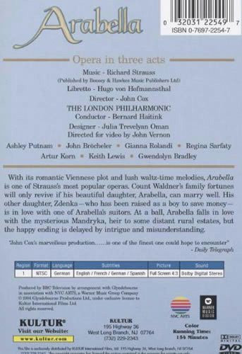 Arabella (Glyndebourne Opera) DVD by Kultur Films