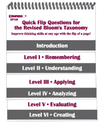 "Quick Flip Question for the Revised Blooms Taxonomy: 5"" x 6\"""