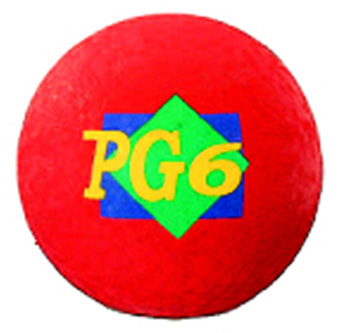 Playground Ball Red 6 In 2 Ply