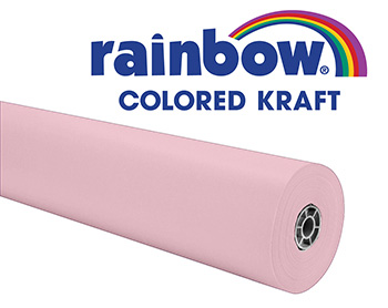 Pink Rainbow Kraft Roll 1000 Ft