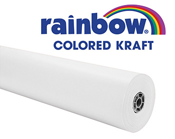 Rainbow Kraft Roll 36x100 Ft White