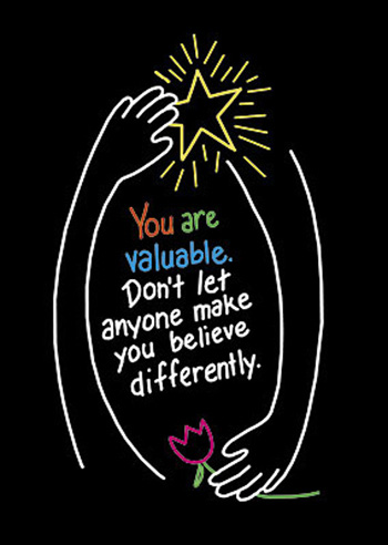 Poster You Are Valuable 13 X 19 Large