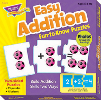 Easy Addition Puz Fun-To-Know Puzzles
