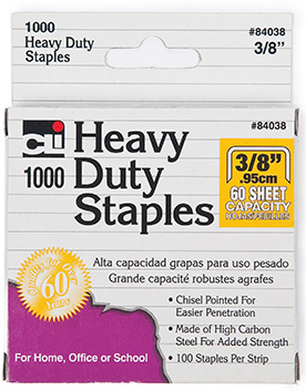 Extra Heavy Duty Staples 3/8