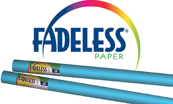 Fadeless Art Roll 24 X 12 Lite Blue Film Wrapped