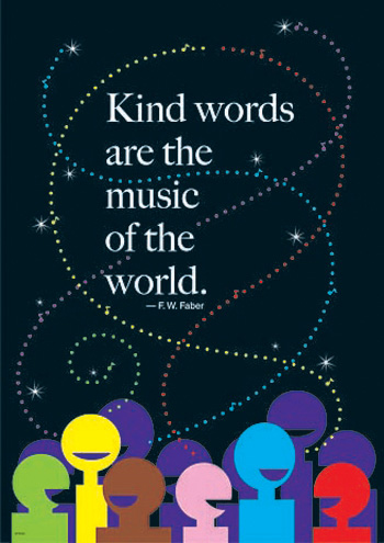 Kind Words Are The Music Lp Large Posters