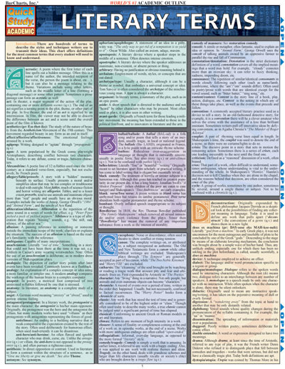 study guide literary terms It can be used as a classroom activity or as a helpful study guide or review of the terms literary terms - activity 1  literary terms worksheet by yourdictionary.