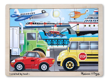 Wooden Jigsaw Puzzle Transportation