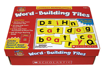 Lettle Red Tool Box Word Building Tiles