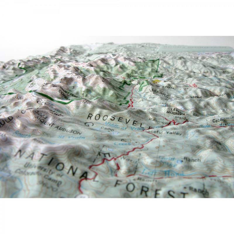 Hubbard Scientific Raised Relief Map: Rocky Mountain National Park