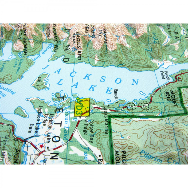 Hubbard Scientific Raised Relief Map: Grand Teton National Park