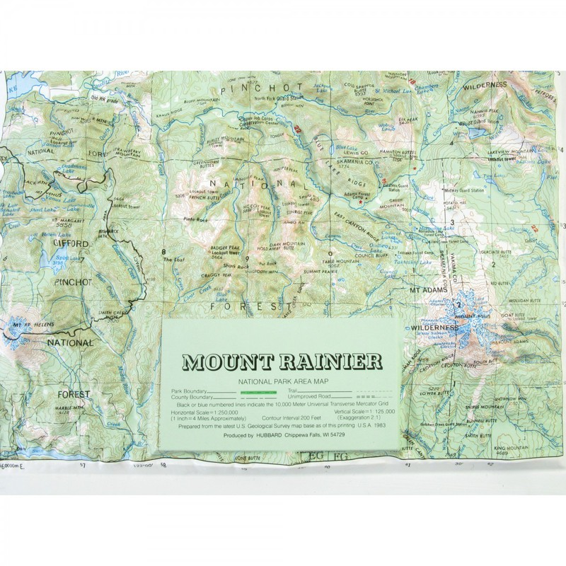 Hubbard Scientific Raised Relief Map Mt Rainier National Park - Mt rainier on us map