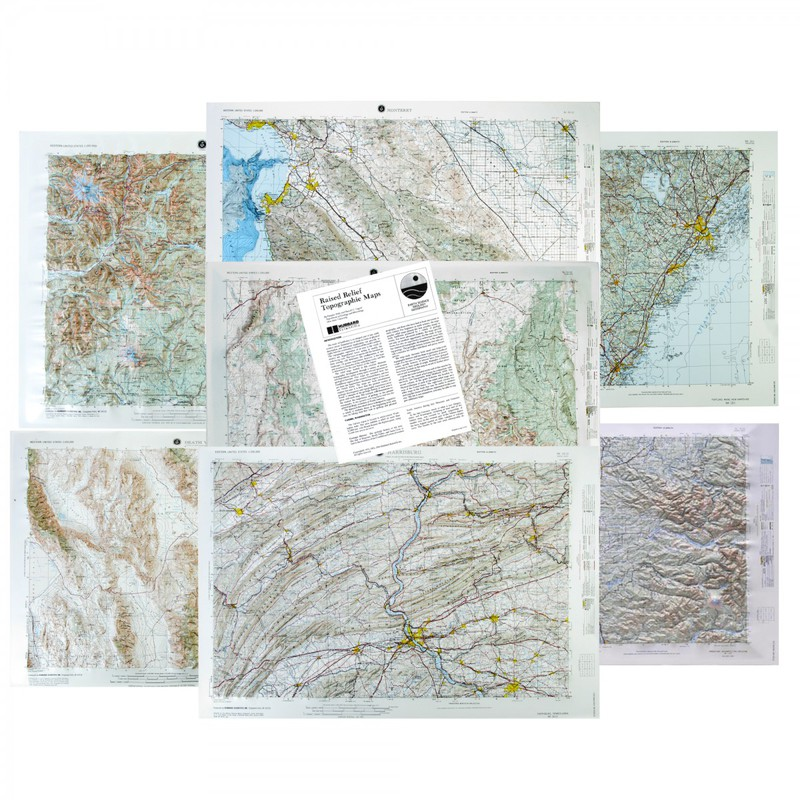 Scott Resources & Hubbard Scientific Landform Relief Maps: Set of 7