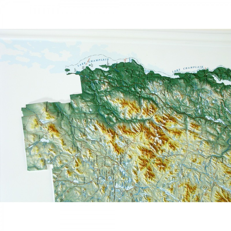 Adirondack National Park Map: Black Frame