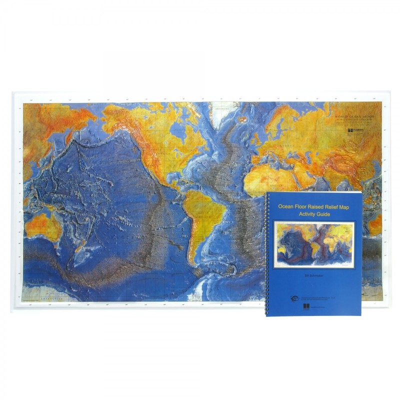 Scott Resources & Hubbard Scientific Ocean Floor Map Raised Relief Map with Teacher's Guide