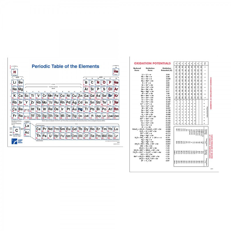 Scott Resources & Hubbard Scientific Periodic Table Notebook Charts (3-hole punched/ pad of 100)