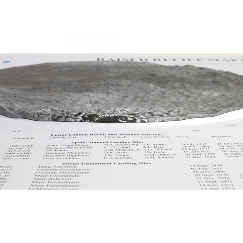 Scott Resources & Hubbard Scientific Moon Relief Map