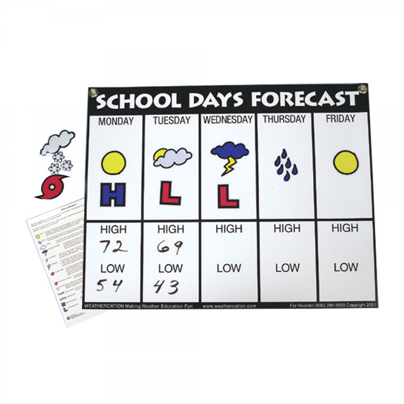 American Educational School Days Forecast Wall Chart