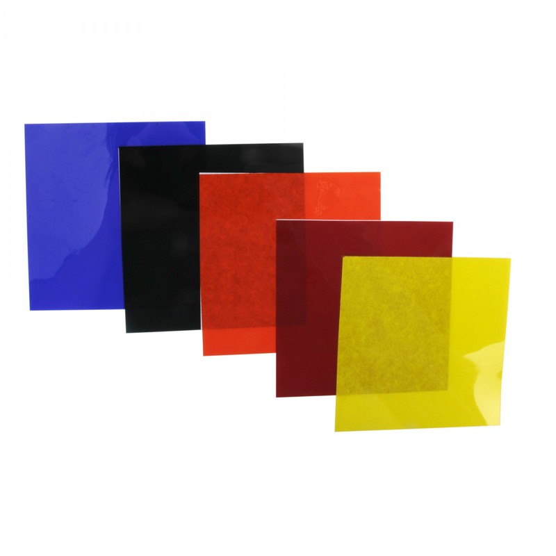 "American Educational Color Filters, Gelatin Pack Of 5; 4"" X4""; 001Ib"