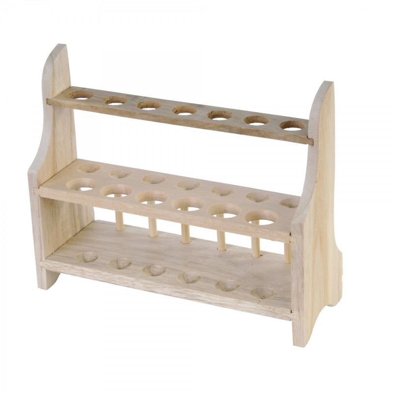 Test Tube Wooden Rack: 13 Tube, 2 Tier, 7 x 20 mm, 6 x 26 mm