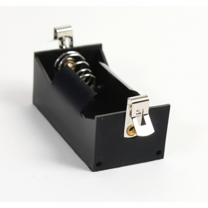 "Ginsberg ""D"" Cell Battery Holder with Fahnstock Clips"