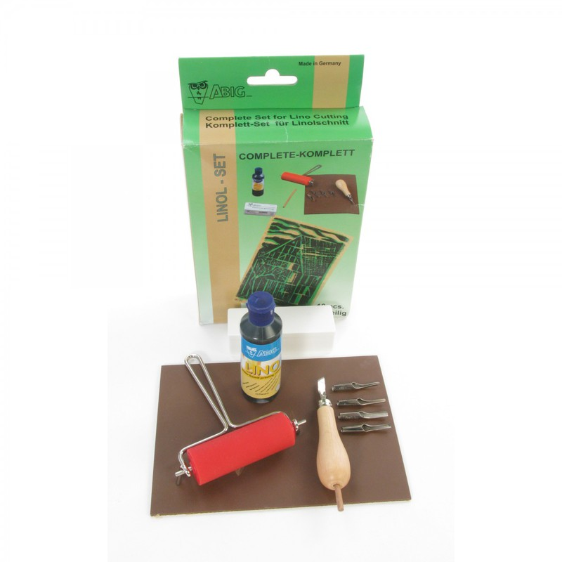 American Educational ABIG Lino Cutting Set in A Hanging Box Package with Linoleum
