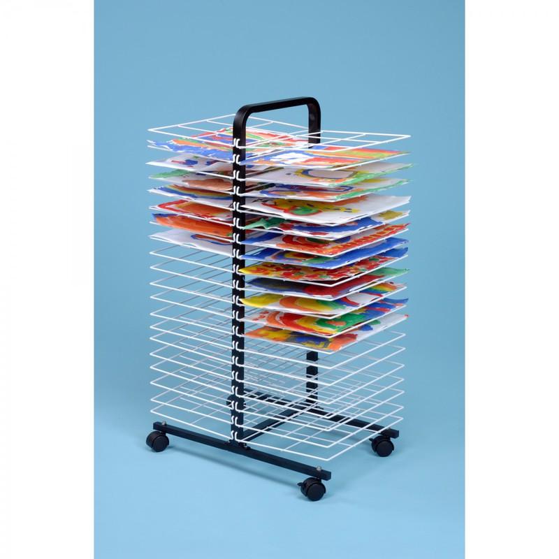 American Educational Drying Rack On Wheels 40 Shelves