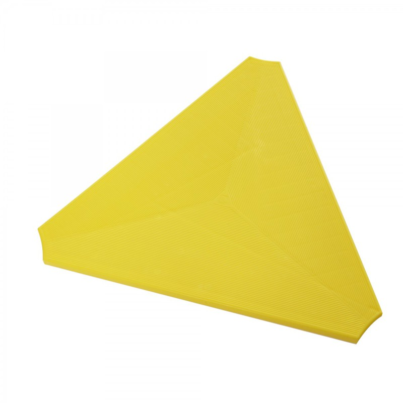 "Gonge Build N' Balance Triangular Platform: Yellow, Size 23"" W x 1"" H"