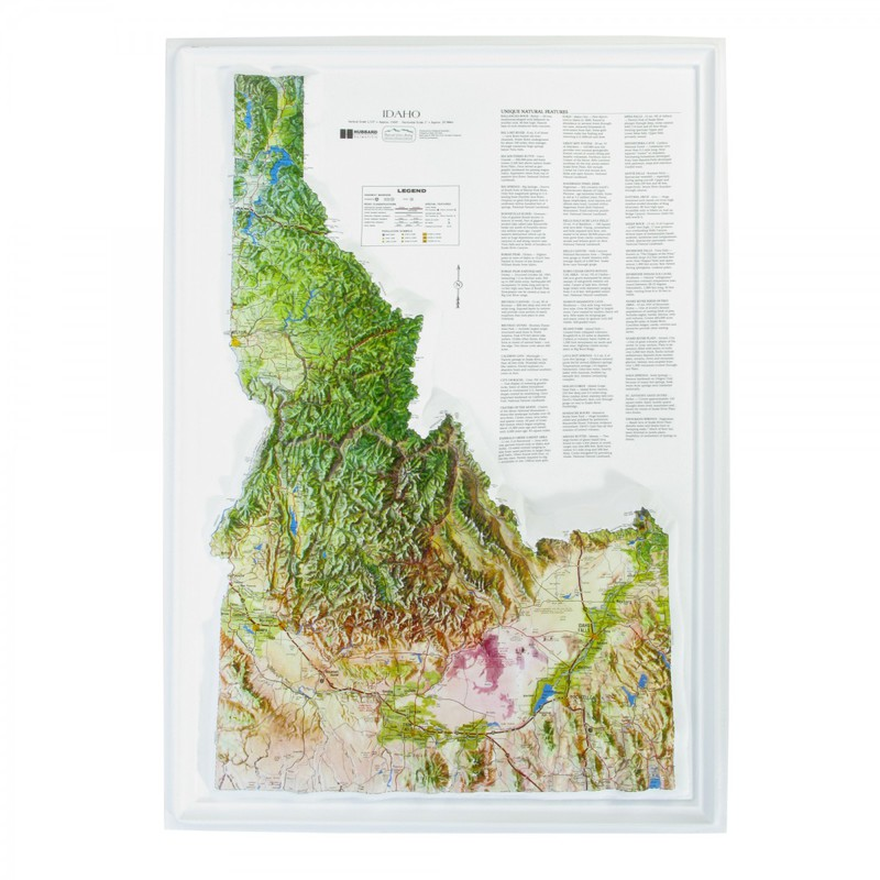 American Education Raised Relief Map: Idaho NCR Series