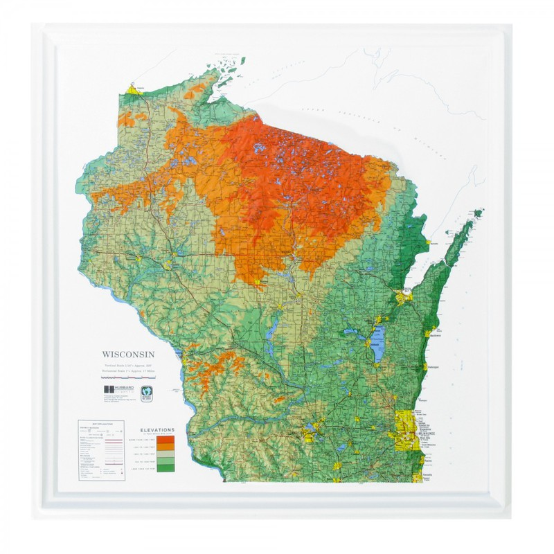 American Education Wisconsin State: Gold Frame