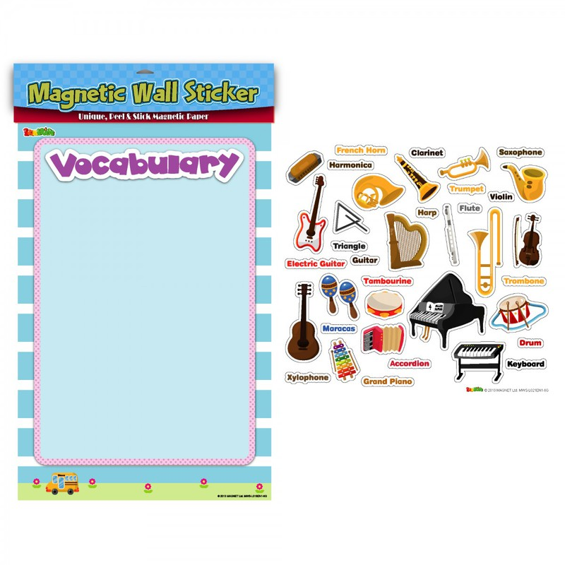 American Educational Magnetic Wall Stickers: Musical Instruments
