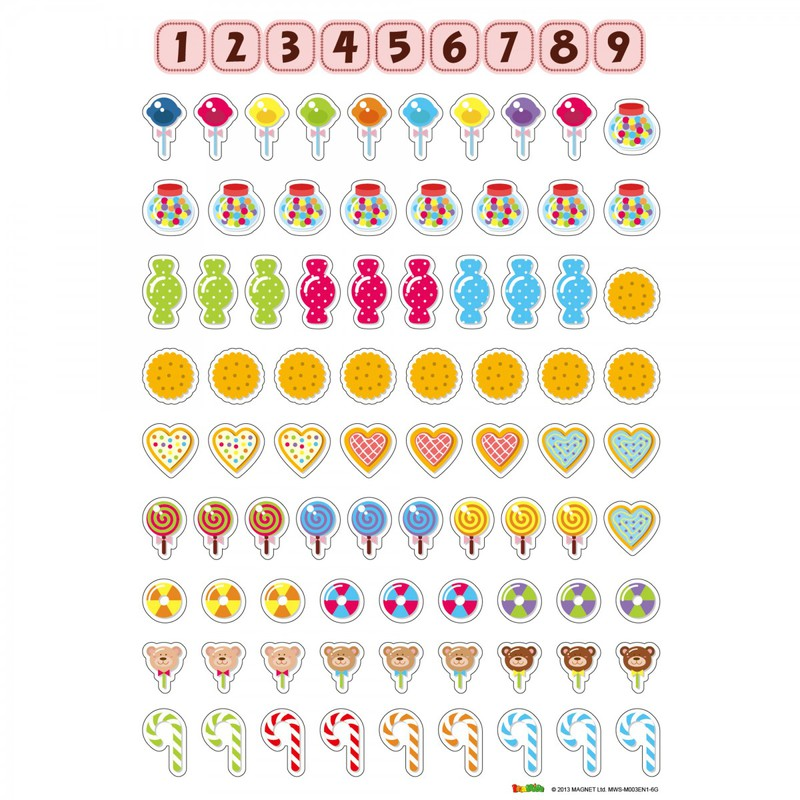 American Educational Magnetic Wall Sticker: Counting