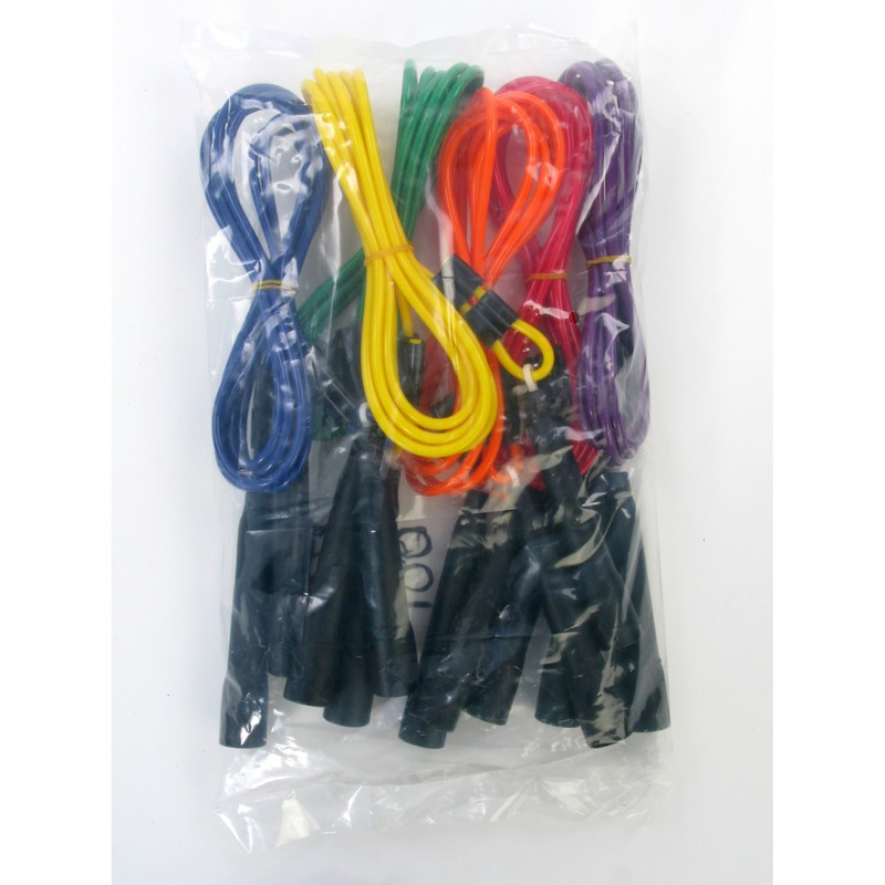 Yellowtails Adjustable Length Jump Ropes: Assorted Colors, Set of 6