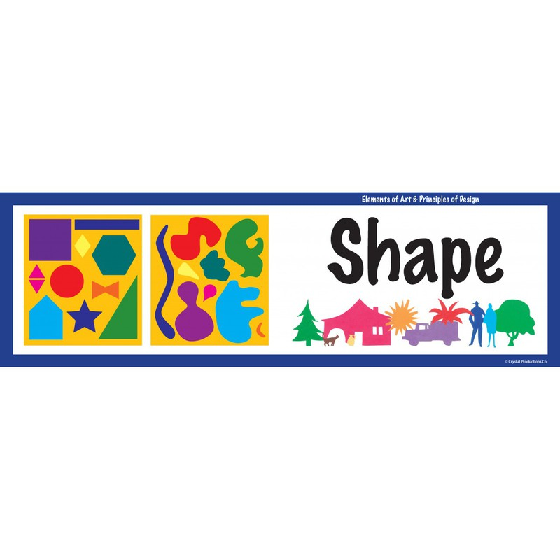 American Educational Art Display Cards-Elements Principles