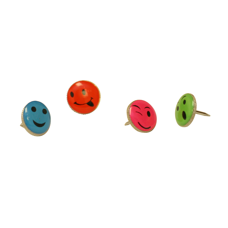 Baumgartens Fancy Push Pins Smiley Face