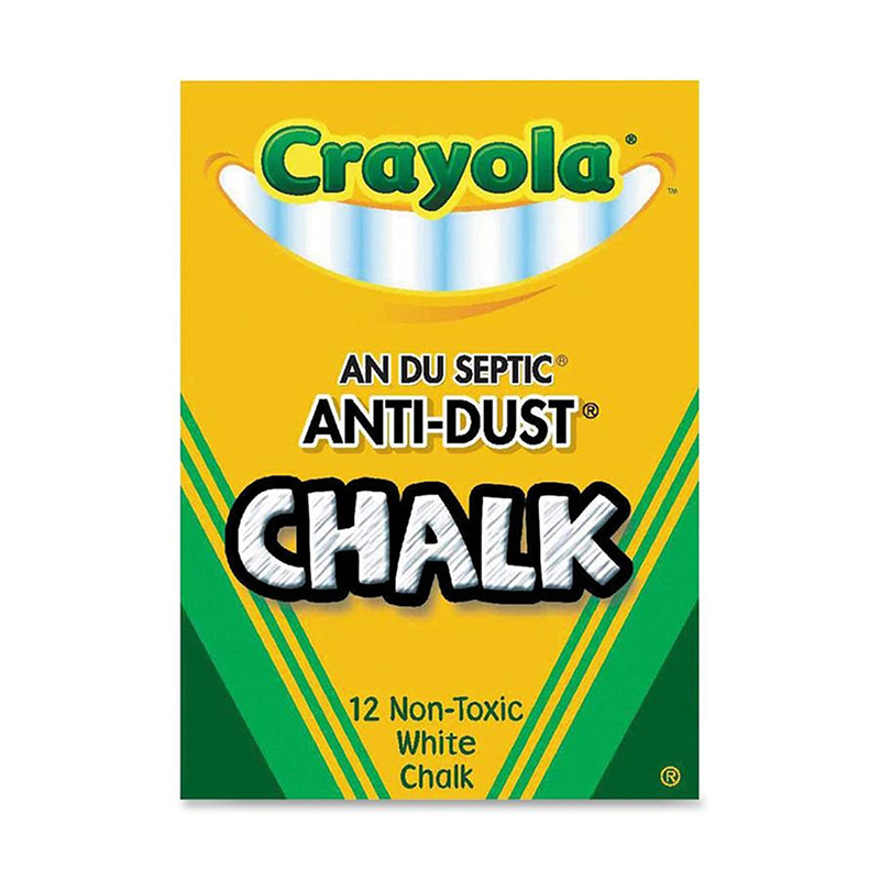 Crayola Crayola Chalk Anti-Dust White 12 Ct