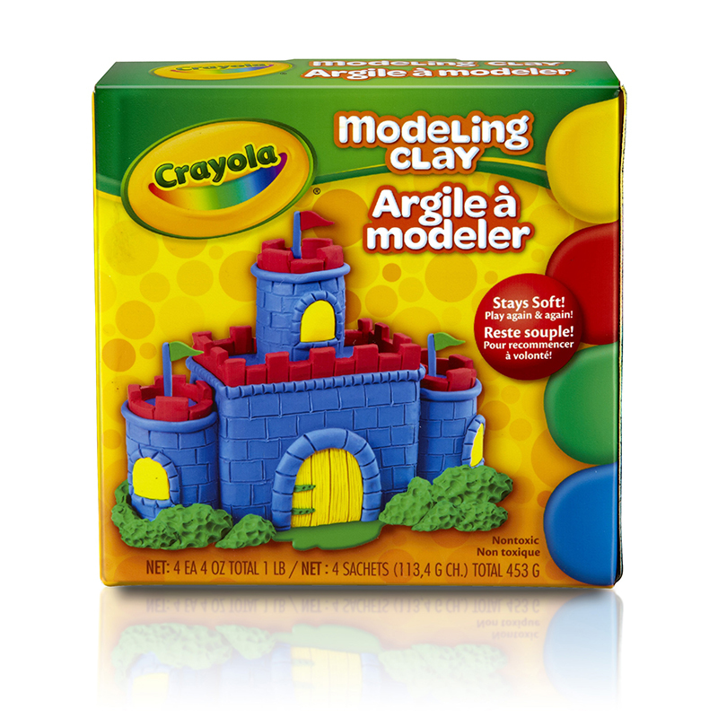 Crayola Crayola Modeling Clay 4 Pcs Red Blue Grn Yw